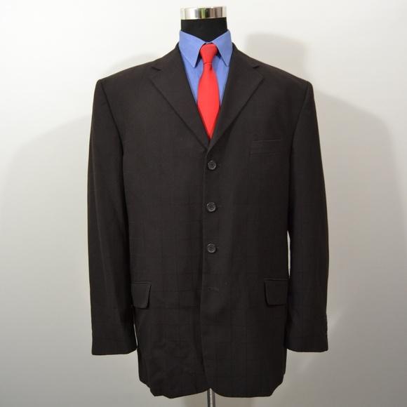 Vicci Uomo Other - Vicci Uomo 44R Sport Coat Blazer Suit Jacket Dark